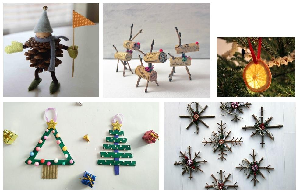 Decoraciones navideñas ecológicas hechas a mano